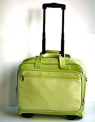 Leather Scully Wheeled Work Bag