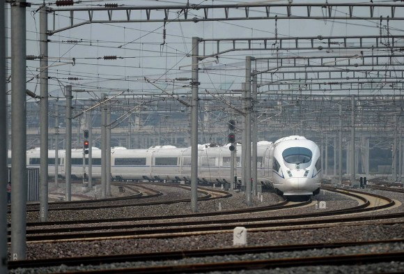 The Beijing to Shanghai high-speed train