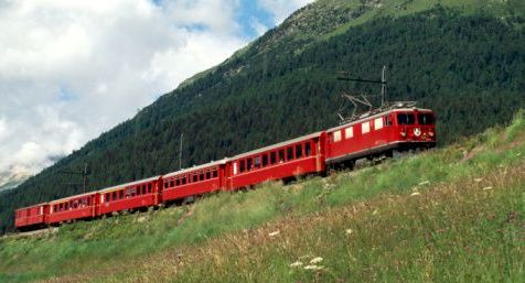 Switzerland, Italy Train Route