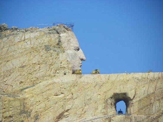 The Crazy Horse Memorial, South Dakota, USA