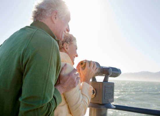 elderly parents on a cruise