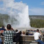 Old Faithful Erupt at Yellowstone National Park